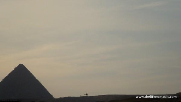 The Great Pyramids at Giza, Egypt.