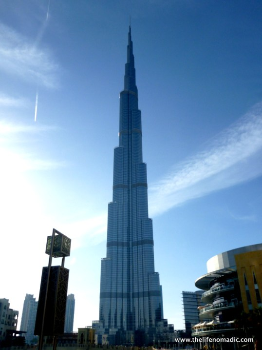 The Burj Khalifa.