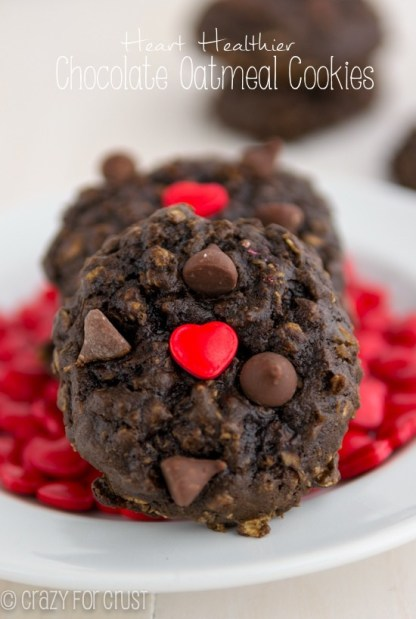 Heart Healthier Chocolate Oatmeal Cookies