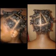 bantu knot relaxed hair