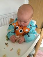 Salmon and brocolli pasta