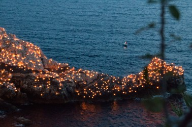 Torches on the rocks