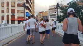 On their way into La Tomatina