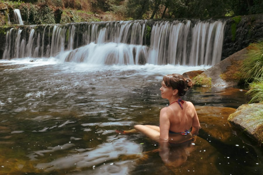 wild swimming in waterfalls
