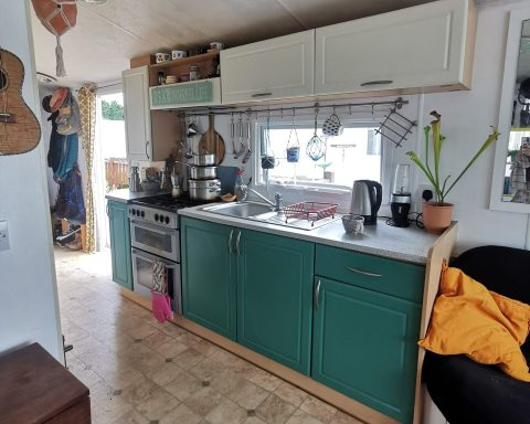 Image of a galley kitchen