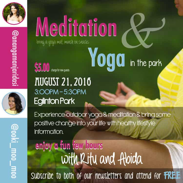 om chanting and yoga in the park by abida and ritu
