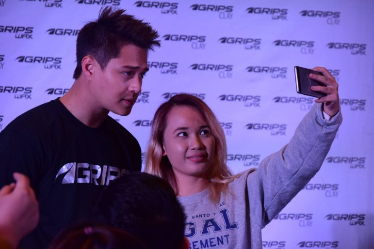 Selfie with Enrique Gil at the Grips Hair Wax and Clay Official Launch
