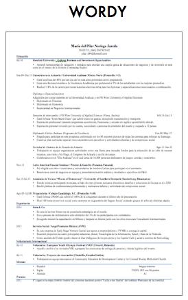 Wordy CV