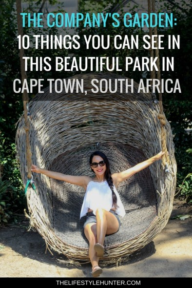 #thelifestylehunter #pilarnoriega #Travel : The Companys Garden, oldest pear tree, rose garden, delville wood memorial garden, aviary, the companys garden restaurant, voc vegetable garden, national library of south africa, rutherford fountain, Cape Town CBD, Cape Town City center, green Market square, berlin wall, cape town club, race classification appeal board, the companys garden, the tunhuys, houses of parliament, slave lodge, city hall, castle of good hope, water project church square, flower market, Africa, Sea Point Promenade, Table Mountain, Devils Peak, Lions Head, Kruger safari, Stellensbosh, Hermanus, Cape Point, Garden Route, Groot Constantia, Kristenbosch, Boulders Beach, Boo-Kaap