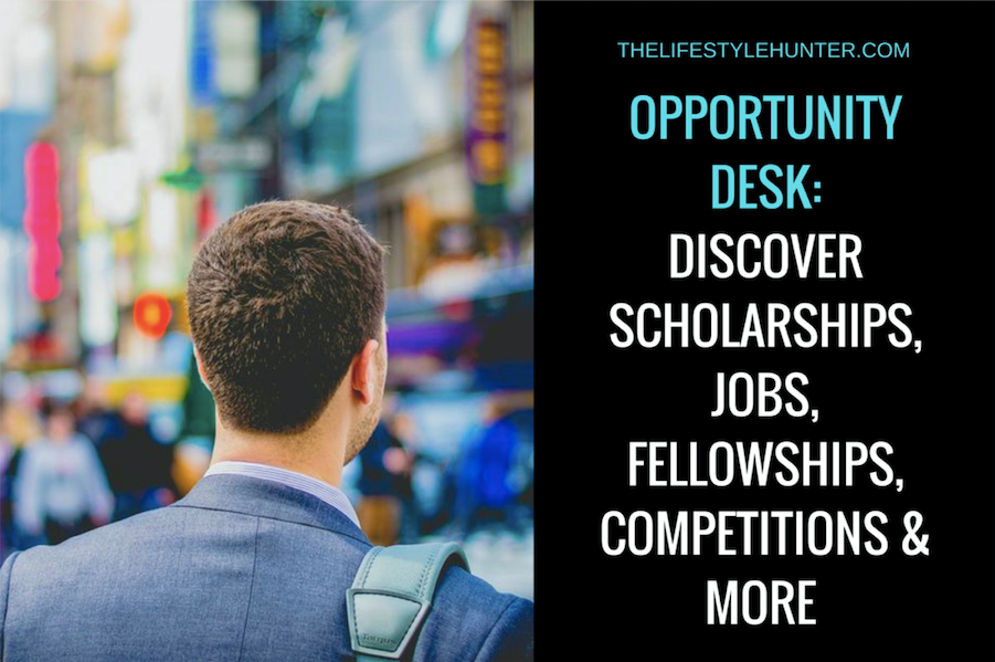 Opportunity Desk: discover scholarships, jobs, fellowships, competitions and more