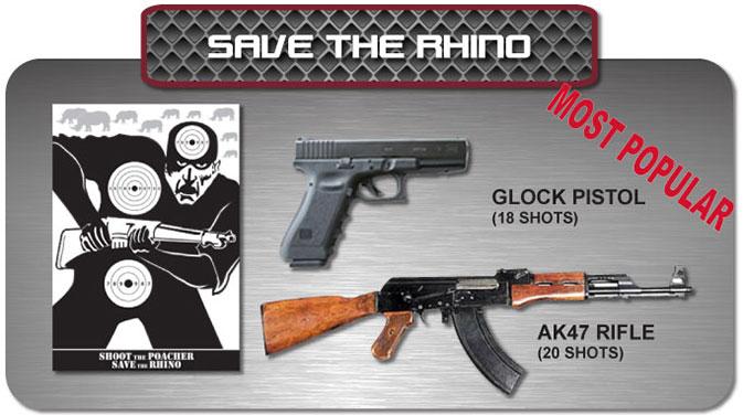 Gun Fun - Cape Town South Africa - save the rhino
