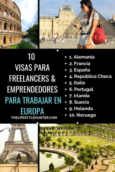 Emprendedores autonomos visas europa
