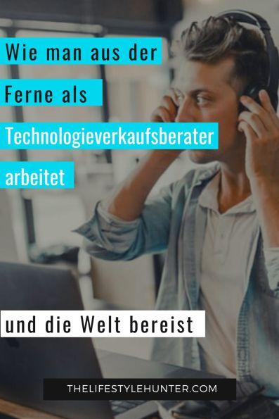 Technologieverkaufsberater arbeitet