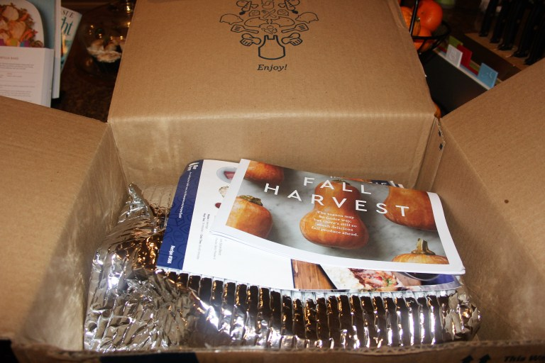 Blue Apron Box Open