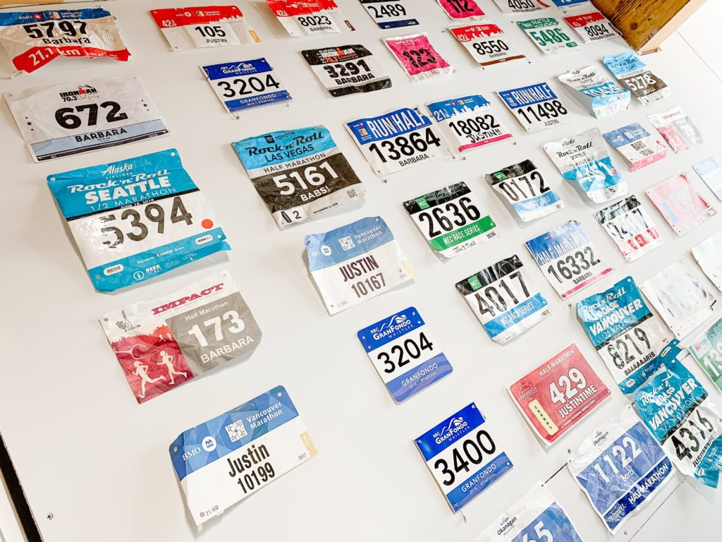 race bib wall