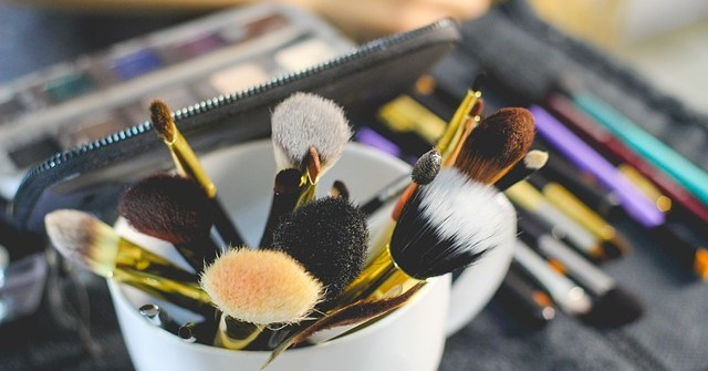 stock image (makeup brushes)