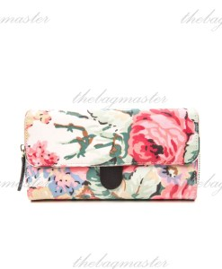 Bloomsbury Bouquet Cream Folded Trimmed Wallet