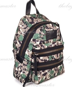 Marc Jacobs Green Camo Mini Packrat backpack