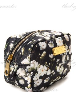 Marc Jacobs Nylon Cosmetic Pouch Floral Black