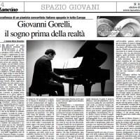Giovanni Gorelli, il sogno prima della realtà