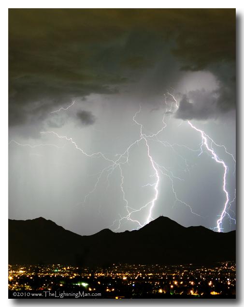 Midnight Lightning Storm Rider Photography