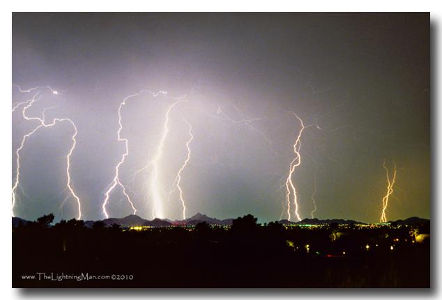 Oaxaca view 600DSs Lightning Thunderstorm View of Phoenix from Oaxaca Restaurant