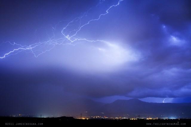 Lightning Strikes Over Boulder Colorado