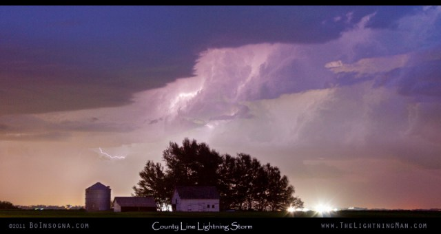 County Line Northern Colorado Lightning Storm Panorama