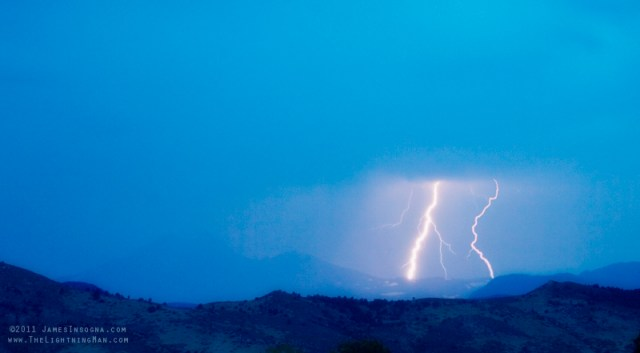Lightning Bolts Hitting the Continental Divide Crop