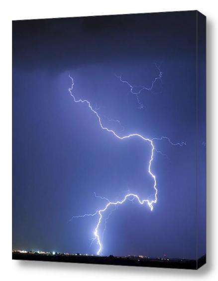 Nature Strikes Fine Art Lightning Photography Canvas Art