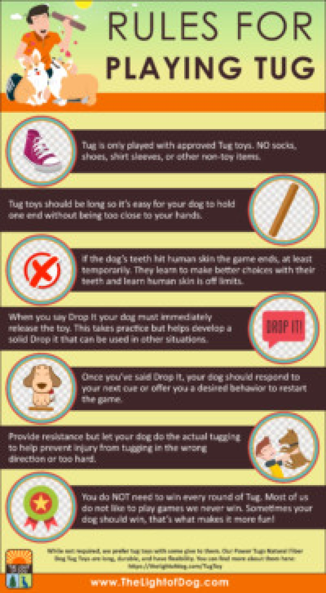 rules for playing tug with your dog