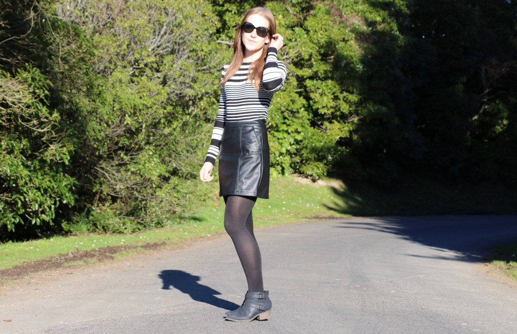Styling A Leather Skirt - The Lilly Mint Blog
