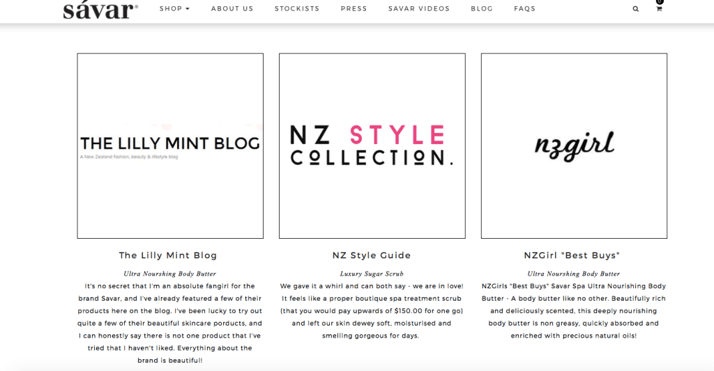 Press Page: The Lilly Mint Blog