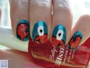 crab nail art lil' vovo