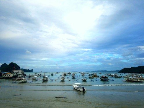 Boats in El Nido