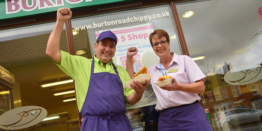 Burton Road Chippy was placed seventh in the top 10 fish and chip shops in the UK.