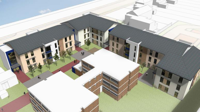 The new £4.3m development will have 126 en suite rooms, when finished ahead of the new academic year.