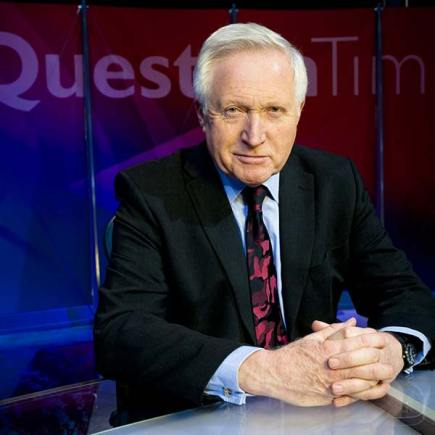 David Dimbleby is the host of BBC Question Time. Photo: BBC