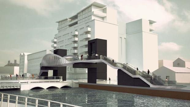 The new Brayford level crossing bridge designs from Network Rail, by Stem Architects