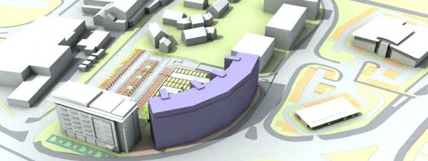 The new building could become either a hotel, offices, residential or student accommodation.