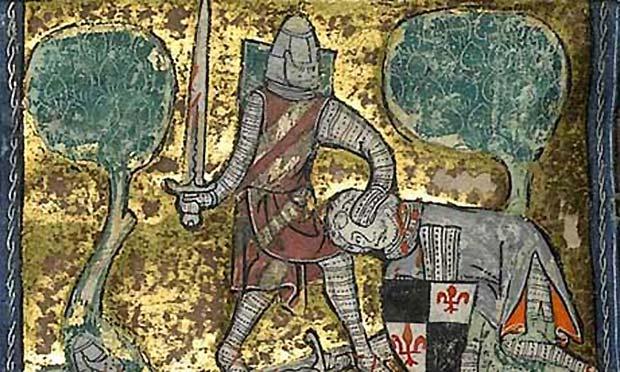King Arthur depiction from a manuscript