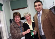 A clinical trials room opened by  Dianne Tetley, assistant director for research & effectiveness from LPFT; Caroline Taylor, clinical trials pharmacist from ULHT; and Shiraz Haider, chief pharmacist, LPFT.