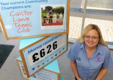 The Co-op Community Champions scheme in action at Caistor Foodstore, with the store's Community Liaison Representative Louise Acum