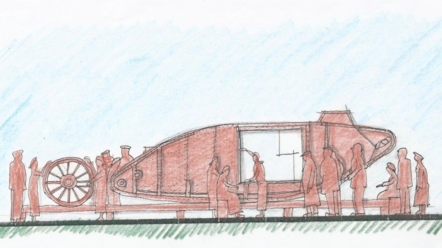 A sketch of the memorial layout, which would sit in the middle of Tritton Road roundabout