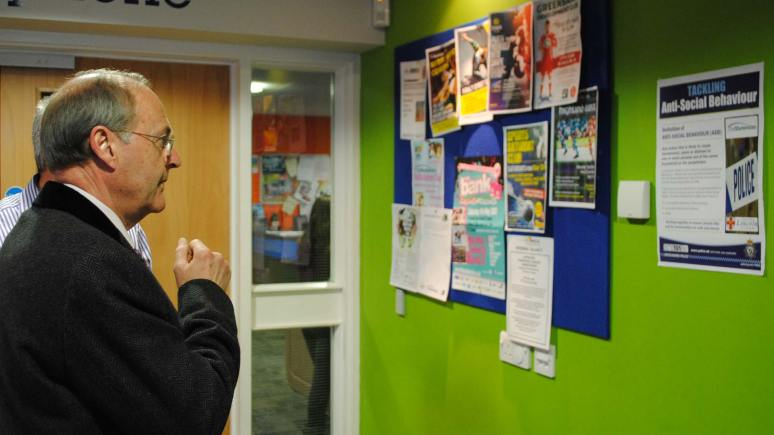 PCC Alan Hardwick visited The Showroom youth and conference centre in Lincoln on April 11, 2013.
