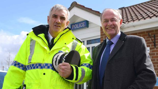 Lincolnshire Police Chief Constable Neil Rhodes and PCC Alan Hardwick. Photo: Steve Smailes for The Lincolnite
