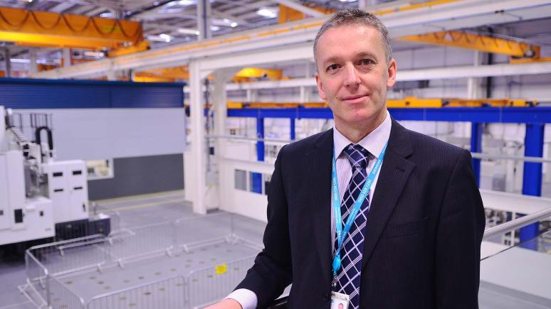 Neil Corner, director of service at Siemens  in Lincoln, on the viewing platform at Feilden House facility at Teal Park. Photo: Steve Smailes for The Lincolnite