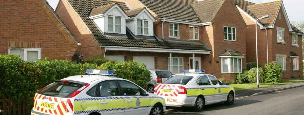 The house in Hotchkin Avenue in Saxilby, near Lincoln, raided by police on Thursday, May 23. Photo: Steve Hill