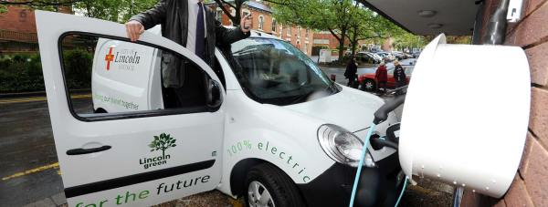 City Services Team Leader  Rod Williamson with the new electric van.