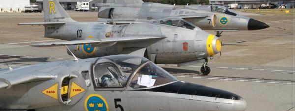 The SAAB JA37 Viggen, the SK60 and the Saab 29 Tunnan